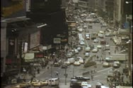 Stock Video Footage of High angle view of busy New York City street