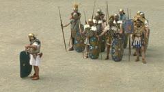 Roman praetorian 08 Stock Footage