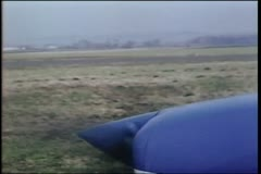 Airplane propeller spinning Stock Footage
