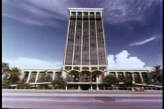 Wide shot hotel in Miami, Florida - stock footage