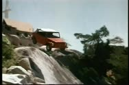 Stock Video Footage of Car falling off cliff