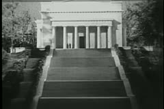 Replica of Lincoln Memorial Stock Footage