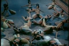 Harem dancers performing Stock Footage