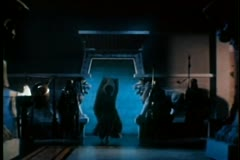 Wide shot of harem dancer Stock Footage