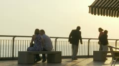 Evening scene at Santa Marinella (near Sorrento) Stock Footage