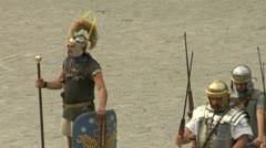 Roman praetorian 10 Stock Footage