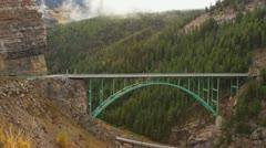 Mountain Bridge Stock Footage