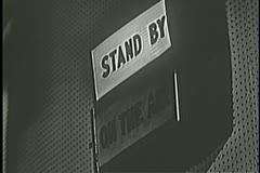 Stand By sign changing to On the Air Stock Footage