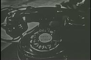 Close-up of rotary telephone Stock Footage