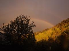 Rainbow after rain Stock Photos