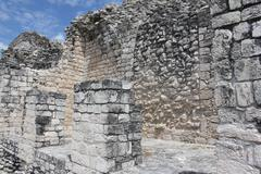 Ek Balam,Temple , Mayan Ruins, Yucatan, Mexico Stock Photos