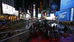Times Square Timelapse Stock Footage