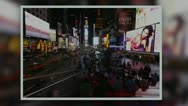 Stock Video Footage of Times Square Timelapse