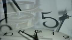 Clock face Stock Footage