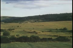 Pan view of valley - stock footage