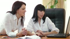 Business People in Meeting Stock Footage