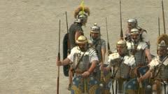 Roman praetorian 12 Stock Footage