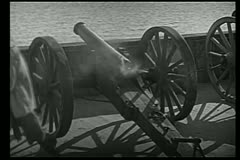 Cannon shooting Stock Footage
