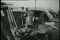 Shanty town, 1930s - stock footage