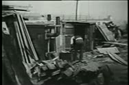 Stock Video Footage of Shanty town, 1930s
