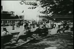 Staten Island Ferry terminal,  lower Manhattan,1930s Stock Footage
