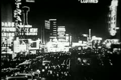 Times Square, New York City, 1930s Stock Footage