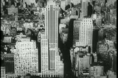 Aerial view of New York City, 1930s Stock Footage