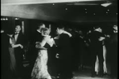 Couples dancing at nightclub Stock Footage