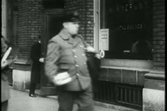 Montage - postal workers - stock footage