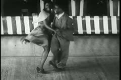 African American couple swing dancing, 1930s - stock footage