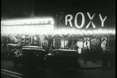 Roxy Theater Manhattan, 1930s - stock footage
