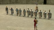 Stock Video Footage of roman praetorian deployment 02