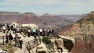 Tourists in the Grand Canyon (Arizona, USA) Stock Footage