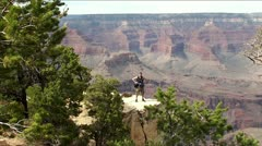 Tourist in the Grand Canyon (Arizona, USA) Stock Footage
