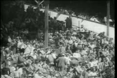 Wide shot of spectators at the Indy 500 - stock footage