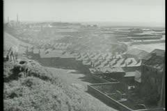 Montage - coal mine - stock footage