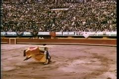 Montage - bullfight Stock Footage