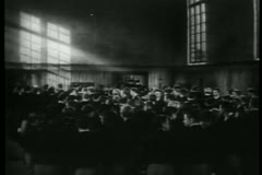 Students gathered in classroom Stock Footage
