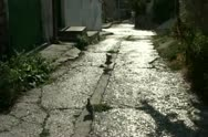 A few steps to the old street. Stock Footage