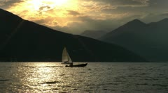 Family trip sailboat 2/3 Stock Footage