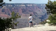 Tourist in the Grand Canyon (Arizona, USA) Stock Footage