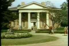 Wide shot of exterior of campus library - stock footage