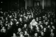 Audience applauding in theater - stock footage