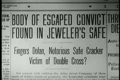 Stock Video Footage of Close-up of newspaper headline