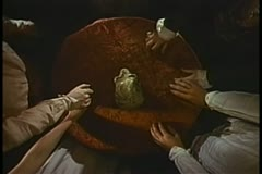 High angle view of seance in session - stock footage