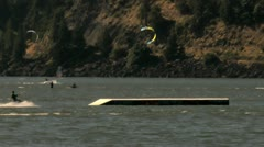 Kiteboard rail move Stock Footage
