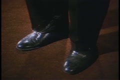 Close-up of foot scratching heel of other foot Stock Footage