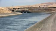 Stock Video Footage of California aqueduct