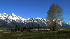 Moran Barn, Grand Teton, USA Stock Footage
