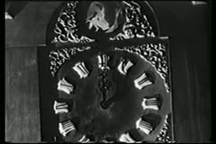 Close-up of old clock with spinning zodiac signs Stock Footage